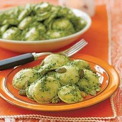 Pumpkin Ravioli with Pumpkin Seed Pesto recipe