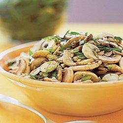 Mushroom Salad with Scallions recipe