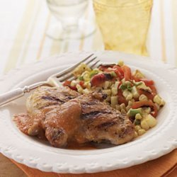 Chicken Thighs with Chipotle-Peach Sauce recipe