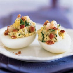 Shrimp and Bacon Deviled Eggs recipe
