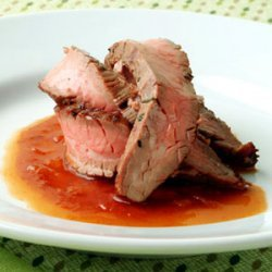 Grilled Flank Steak with Bourbon Barbecue Sauce recipe