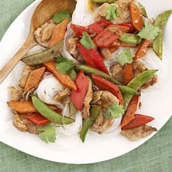 Hoisin Pork With Vegetables and Noodles recipe