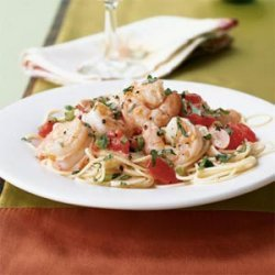 Shrimp Sauteed with Fresh Tomatoes, Wine, and Basil recipe