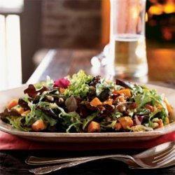 Roasted Squash Salad with Bacon and Pumpkin Seeds recipe