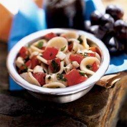 Orecchiette with Tomatoes, Fresh Mozzarella, and Basil recipe