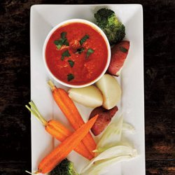 Roasted Red Pepper Bagna Cauda recipe