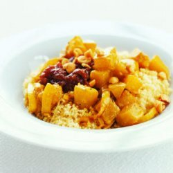 Butternut Squash with Couscous and Chutney recipe