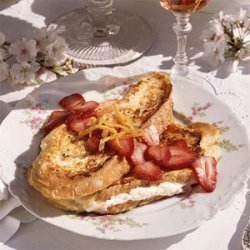 Cheese-Stuffed French Toast with Strawberry Sauce recipe