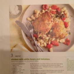 Chicken with white beans and tomatoes recipe