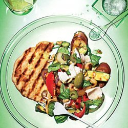 Grilled Caponata Salad with Grilled Flatbreads recipe