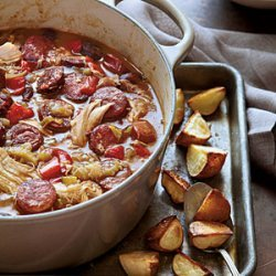 Chicken-Andouille Gumbo with Roasted Potatoes recipe
