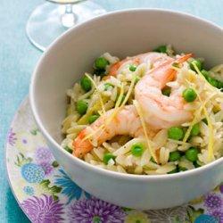 Orzo with Shrimp and Tiny Peas recipe