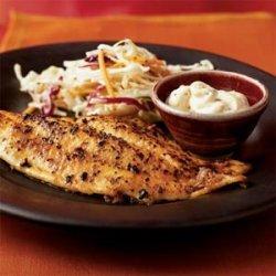 Pan-Fried Catfish with Cajun Tartar Sauce recipe