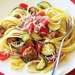 Italian Sausage and Zucchini Pasta recipe