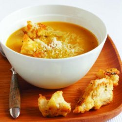 Butternut Squash Soup with Sage and Parmesan Croutons recipe