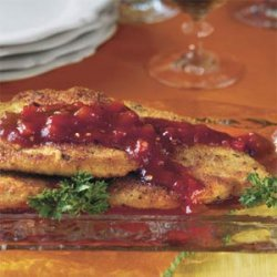 Pane Chicken With Sweet 'n' Spicy Red Pepper Sauce recipe