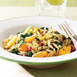Pasta with Pancetta and Fresh Vegetables recipe