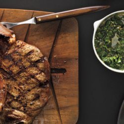 Grilled Steak With Caper Sauce recipe