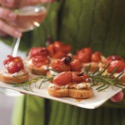 Honey-Roasted Grape Tomato Crostini recipe