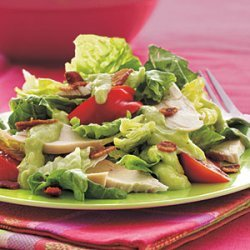 Chicken BLT Salad with Creamy Avocado–Horned Melon Dressing recipe