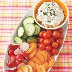 Crudites with Blue Cheese Dip recipe