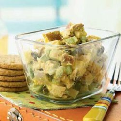 Curried Chicken Salad with Apples and Raisins recipe