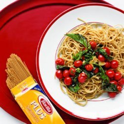 Pasta with Warm Tomatoes and Basil recipe