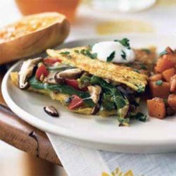 Mushroom and Bell Pepper Omelet with Fontina recipe