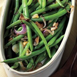 Citrus Green Beans with Pine Nuts recipe