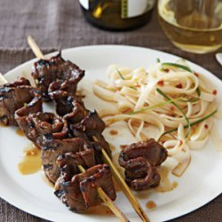 Korean-Style Beef Skewers with Rice Noodles recipe