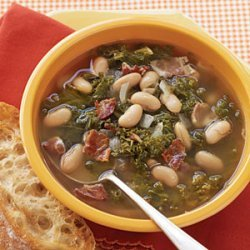 Greens, Beans, and Bacon Soup recipe
