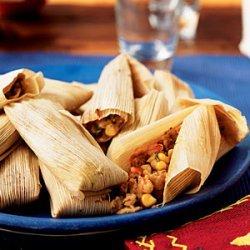 Shrimp and Cilantro Pesto Tamales recipe