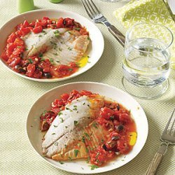 Tilapia with Tomatoes and Olives recipe