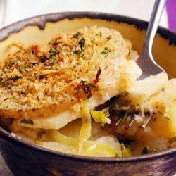 Potato, Celeriac, and Green Onion Gratin recipe