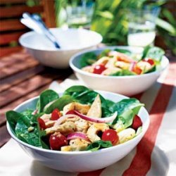 Hot and Cold Chicken and Spinach Salad recipe