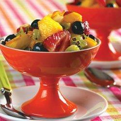 Fresh Fruit Salad with Lime-Ginger Syrup recipe