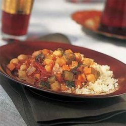 Moroccan Chickpea-and-Vegetable Stew recipe