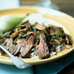 Flank Steak with Shiitake Mushroom Sauce recipe