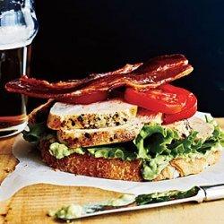 Open-Faced Chicken Club Sandwiches recipe