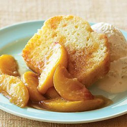 Sauteed Peaches over Pound Cake recipe