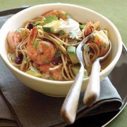 Shrimp, Ancho Chile, and Pasta Soup (Sopa seca de Camarones y Fideos) recipe