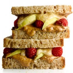 Almond Butter and Fruit Sandwich recipe