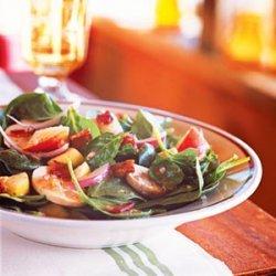 Spinach Salad with Maple-Dijon Vinaigrette recipe