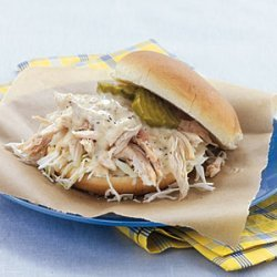 Pulled Chicken Sandwiches with White Barbecue Sauce recipe