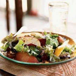 Autumn Apple, Pear, and Cheddar Salad with Pecans recipe