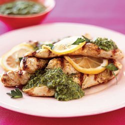 Grilled Lemon Chicken With Fresh Parsley Sauce recipe