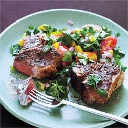 Greek Lamb Chops and Mint Yogurt Sauce recipe