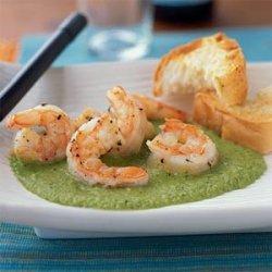 Shrimp with Sweet Pea Sauce recipe
