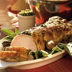 Roast Pork with Sage and Pecan Pesto recipe