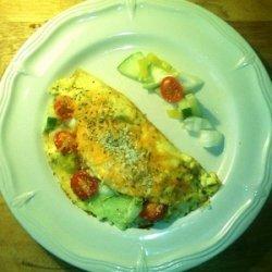 Fresh Garden Vegetable Omelet - Breakfast recipe